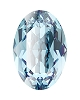 Swarovski 4128 Xilion Oval Fancy Stone 10x8mm Aqua (144 Pieces)